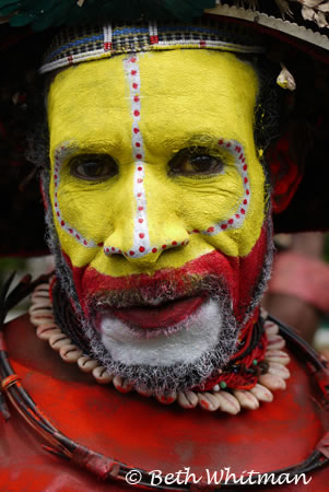 Huli Wigman in Papua New Guinea