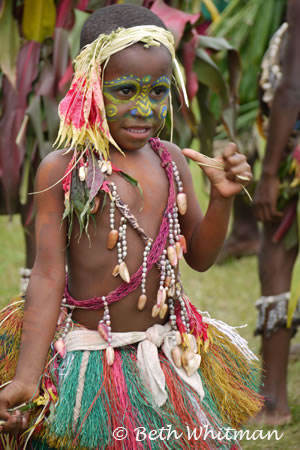 Boy in Sepik River Region in Papua New Guinea