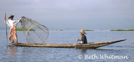Boat in Inle Lake Burma/Myanmar