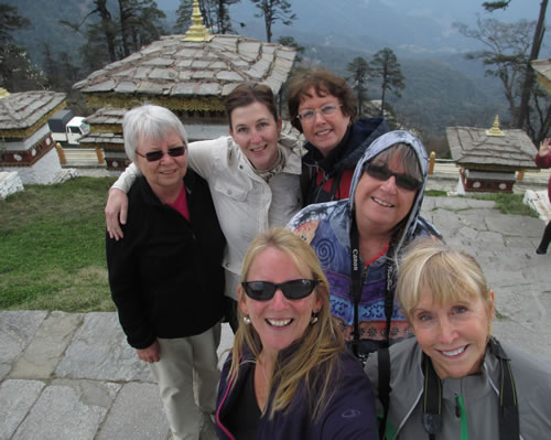 Group Dochu La Pass Bhutan