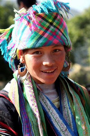 Woman near Sapa