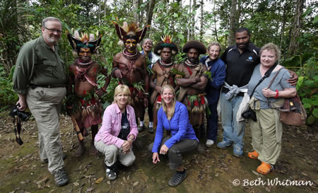 Group in Papua New Guinea Jungle