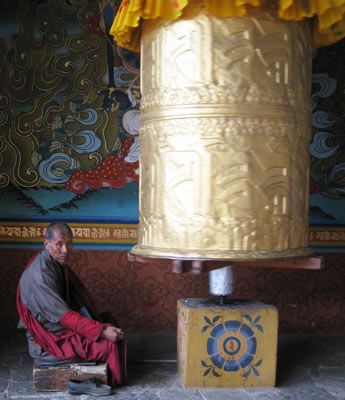 Prayer Wheel in Punakha