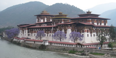 Punakha Dzong in the spring Bhutan