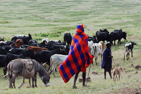 Masai at Ngorongoro caldera