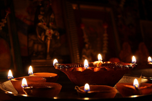 Diwali oil lamps