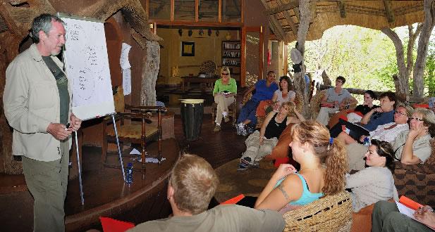 Ainslie at workshop in Africa
