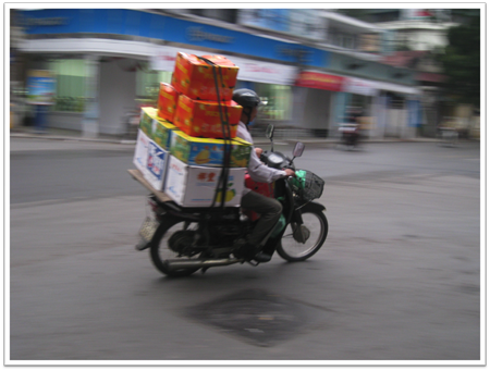 Biker in Hanoi