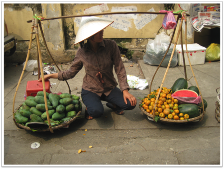 Woman vendor in Hanoi