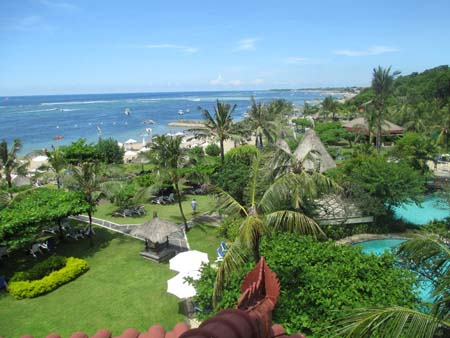 View in southern Bali