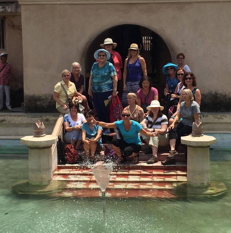 WandeTours group at baths