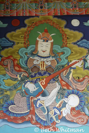 Painting of deity at Punakha Dzong
