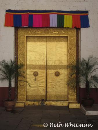 Door at Punakha Dzong