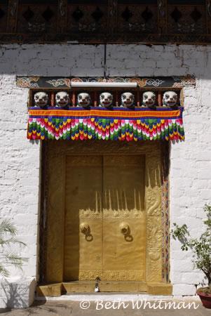 Doorway at Punakha Dzong