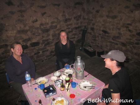 Group dinner along trek