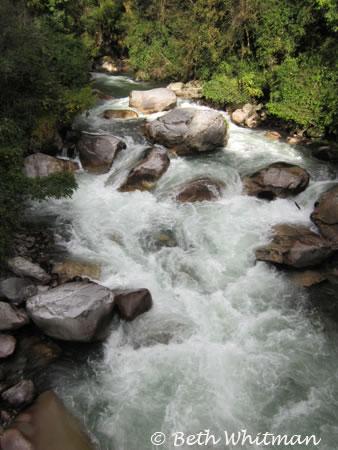 Waterfall during trek