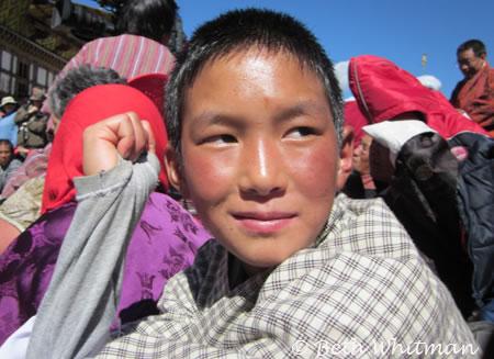 Boy at Bumthang Festival