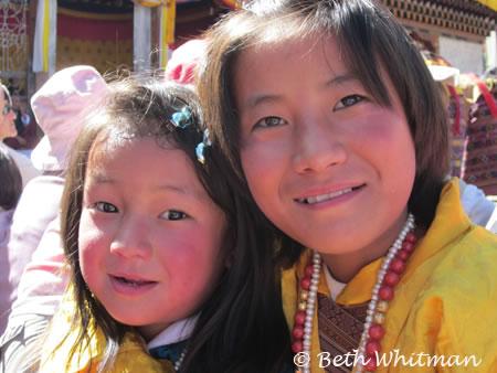 Girls at Bumthang Festival