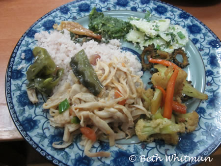 Typical lunch in Bhutan