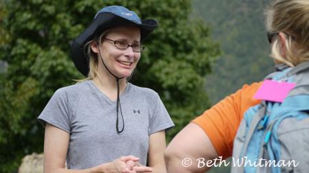 Jean during trek