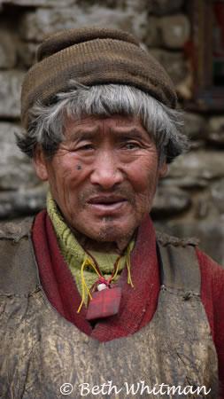 Old man in Eastern Bhutan