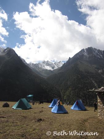 Tents in Laya