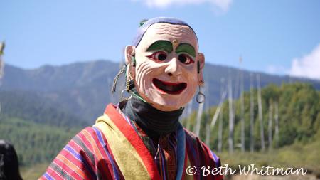Clown at Bumthang festival