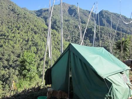 Dining tent during trek