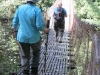 Crossing suspension bridge
