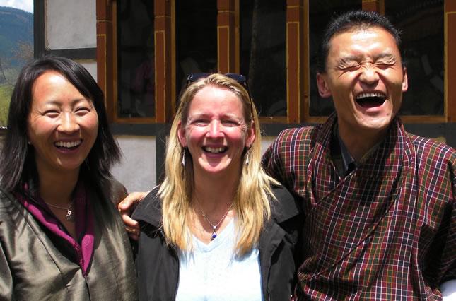 Chuki, Beth and Tshering