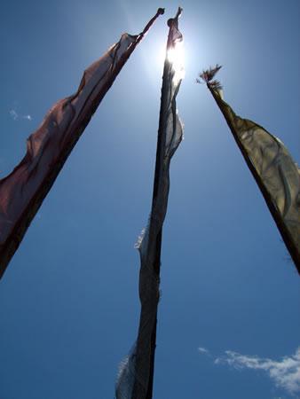Tall prayer flags