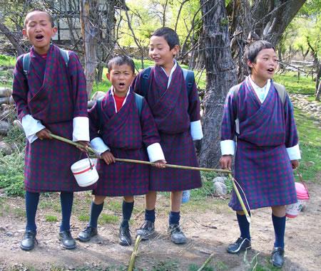 Boys singing after school