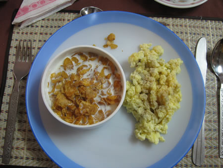 Typical breakfast plate