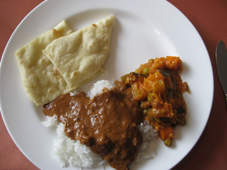 Indian food for lunch
