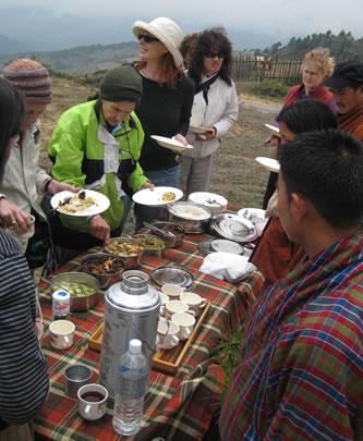 Group at picnic