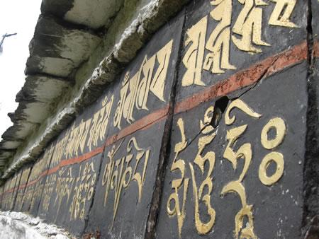 Sanskrit on wall