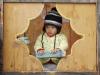 Child in Window in Bhutan