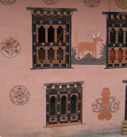 Wall painting on home