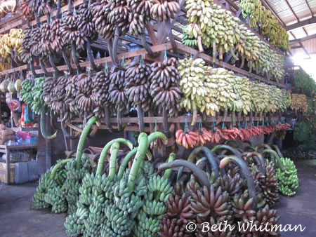 Bananas at market in Burma