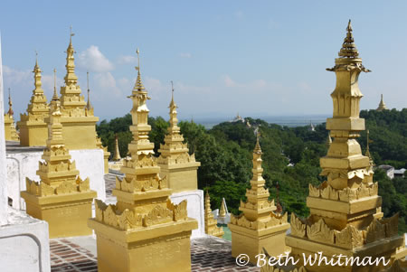 Spires in Mandalay, Burma