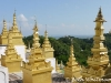 Spires in Mandalay, Burma