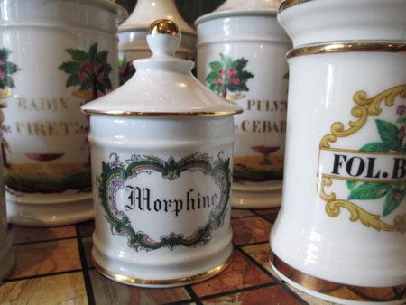 Morphine Jar at Oak Alley Plantation