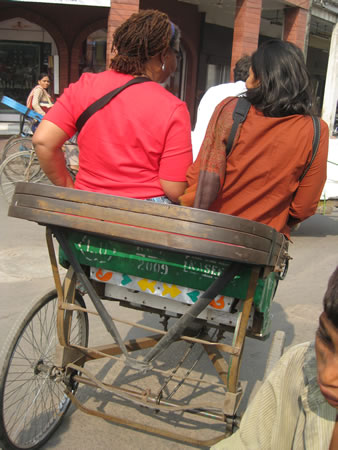 Rickshaw ride through Delhi