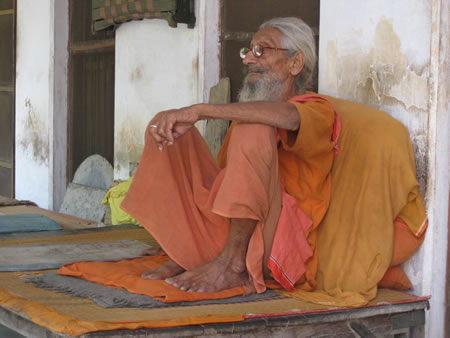 Old man in Varanasi