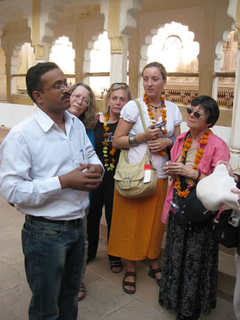 Group with guide in Rajasthan
