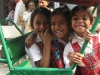 Girls in rickshaw