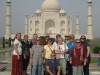 Group at Taj Mahal in Agra