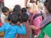 Sarah with kids