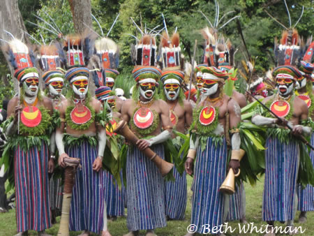 Mt. Hagen Tribesman performing