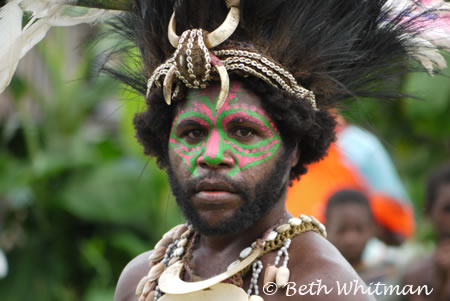 Man at Sing Sing in Sepik River Region